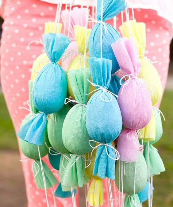 Happy Easter – Silk Tie Dye eggs, easter poppers